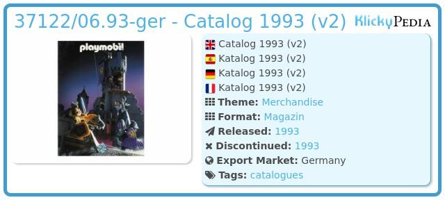 Playmobil 37122/06.93-ger - Catalog 1993 (v2)