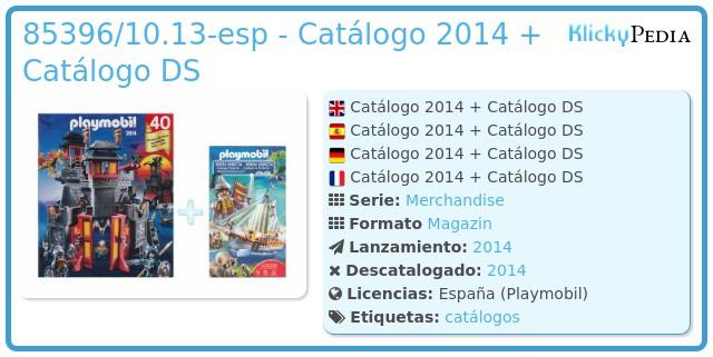 Playmobil 85396/10.13-esp - Catálogo 2014 + Catálogo DS