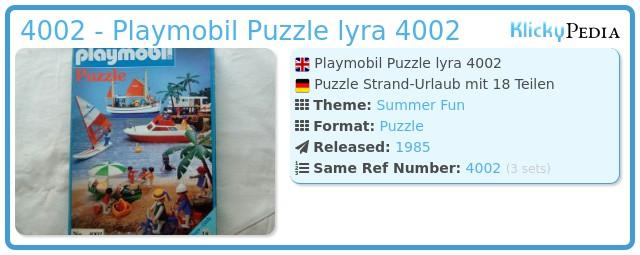 Playmobil 4002 - Playmobil Puzzle lyra 4002