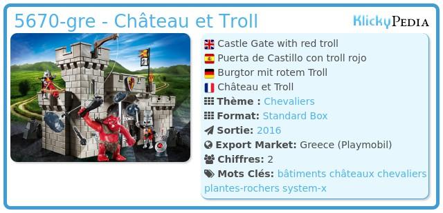 Playmobil 5670-gre - Château et Troll