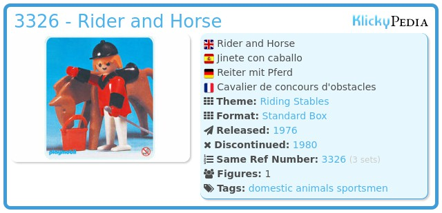 Playmobil 3326 - Rider and Horse