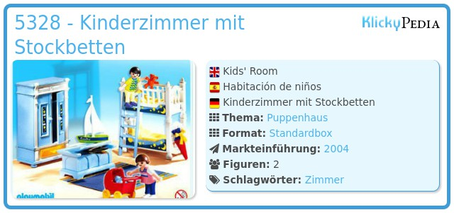 Playmobil 5328 - Kinderzimmer mit Stockbetten