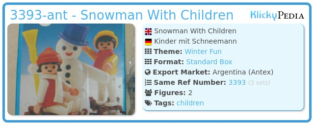 Playmobil 3393-ant - Snowman With Children