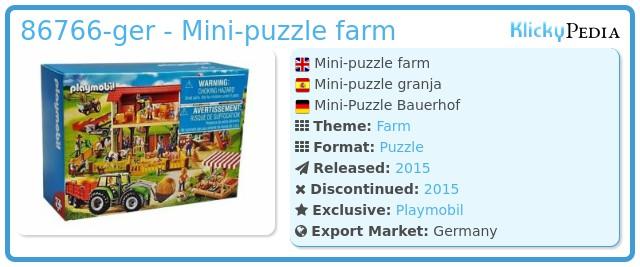 Playmobil 86766-ger - Mini-puzzle farm