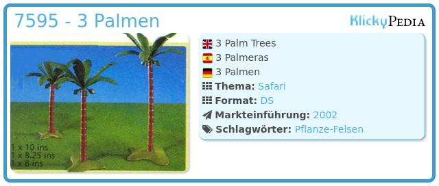 Playmobil 7595 - 3 Palm Trees