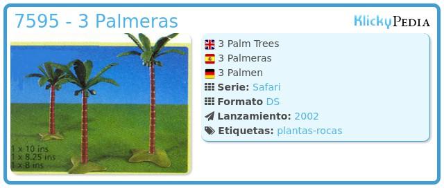 Playmobil 7595 - 3 Palmeras
