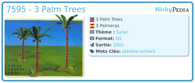 Playmobil 7595 - 3 Palm Trees