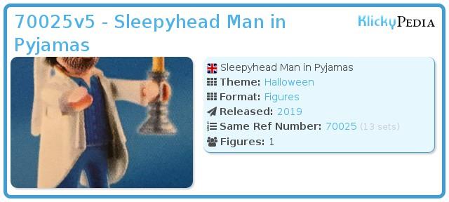 Playmobil 70025v5 - Sleepyhead Man in Pyjamas
