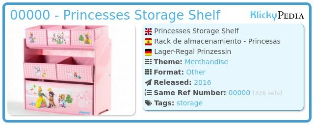 Playmobil 00000 - Princesses Storage Shelf