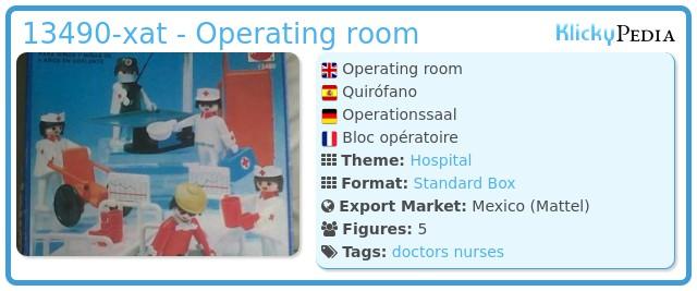 Playmobil 13490-xat - Operating room