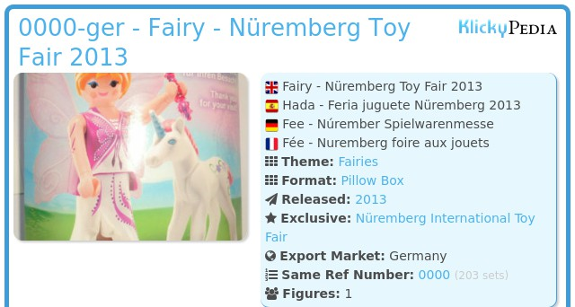 Playmobil 0000v10-ger - Nüremberg Toy Fair Give-away Fairy