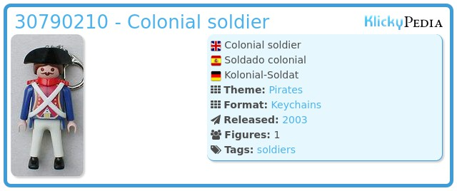Playmobil 30790210 - Colonial soldier