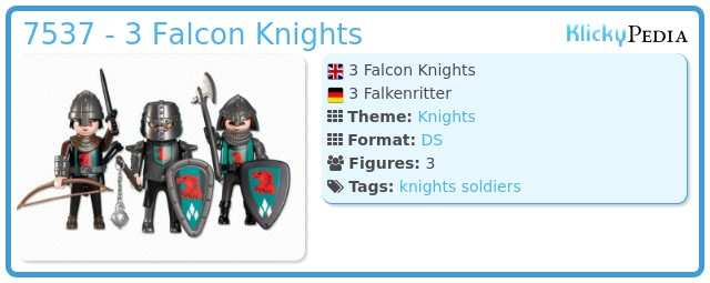 Playmobil 7537 - 3 Falcon Knights