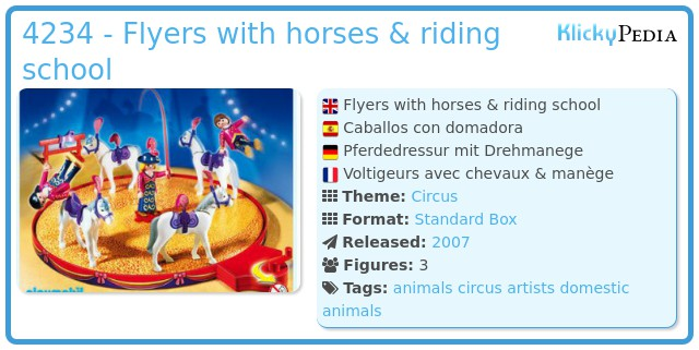 Playmobil 4234 - Flyers with horses & riding school