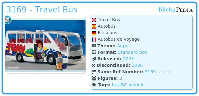 Playmobil 3169 - Travel Bus