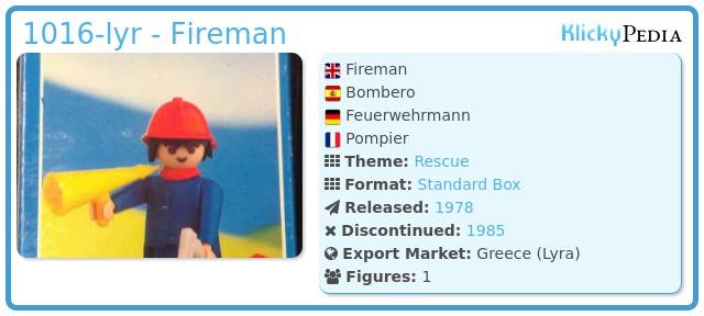 Playmobil 1016-lyr - Fireman