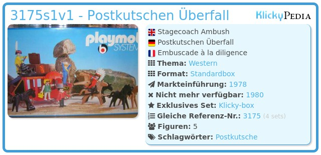 Playmobil 3175s1v1 - Postkutschen Überfall