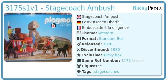 Playmobil 3175s1v1 - Stagecoach Ambush