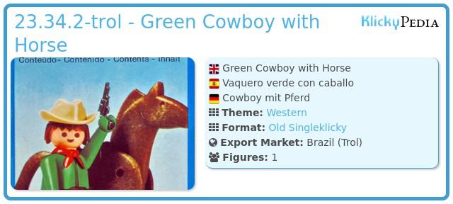 Playmobil 23.34.2-trol - Green Cowboy with Horse