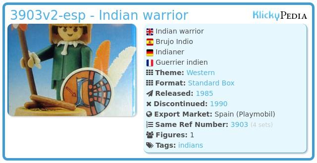 Playmobil 3903v2-esp - Indian warrior