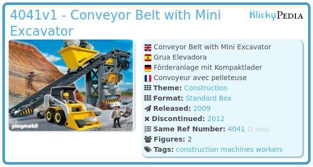 Playmobil 4041v1 - Conveyor Belt with Mini Excavator