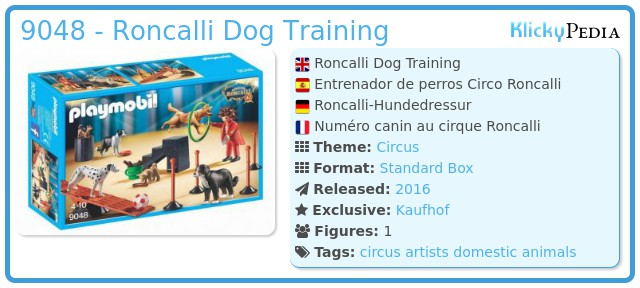 Playmobil 9048 - Roncalli Dog Training