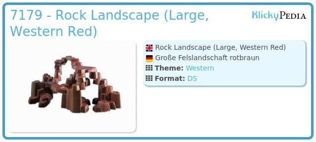 Playmobil 7179 - Rock Landscape (Large, Western Red)