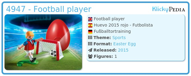Playmobil 4947 - Football player