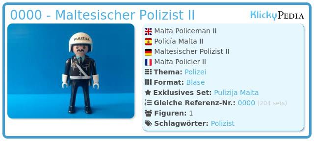 Playmobil 0000 - Polizei Malta II