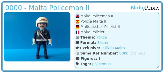 Playmobil 0000 - Malta Policeman II