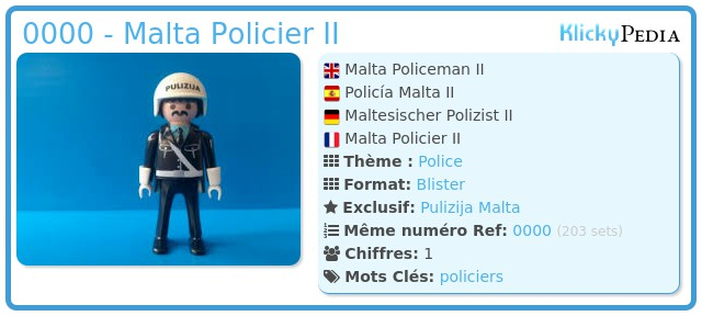 Playmobil 0000 - Malta Policier II