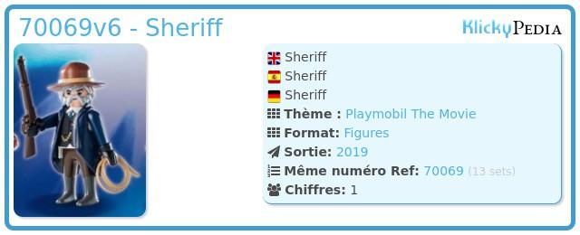 Playmobil 70069v6 - Sheriff
