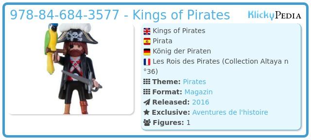 Playmobil 978-84-684-3577 - Kings of Pirates