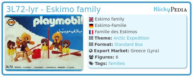 Playmobil 3L72-lyr - polar hunters family