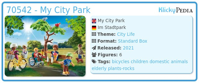 Playmobil 70542 - My City Park