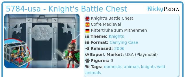 Playmobil 5784-usa - Knight's Battle Chest