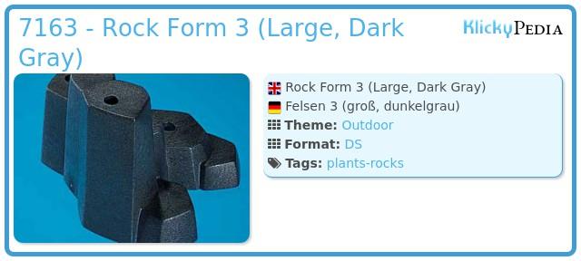 Playmobil 7163 - Rock Form (Large, Dark Gray)