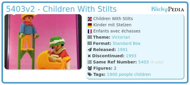 Playmobil 5403v2 - Children With Stilts