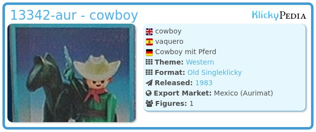 Playmobil 13342-aur - cowboy