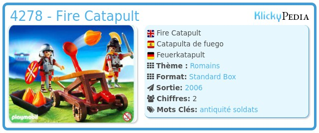 Playmobil 4278 - Firing Catapult