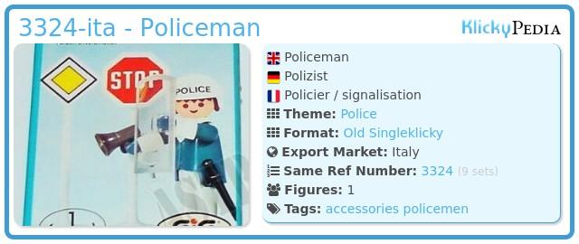 Playmobil 3324-ita - Policeman