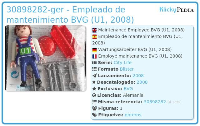Playmobil 30898282-ger - Empleado de mantenimiento BVG (U1, 2008)