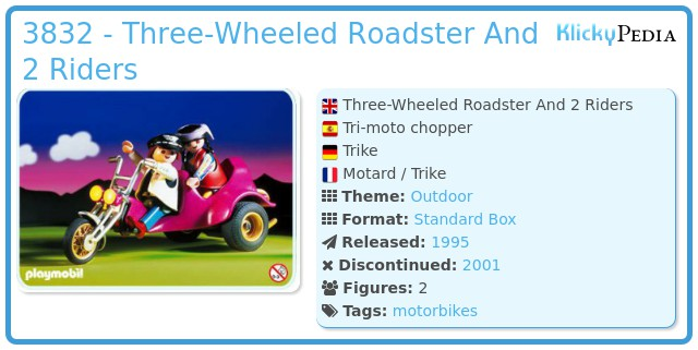Playmobil 3832 - Three-Wheeled Roadster And 2 Riders