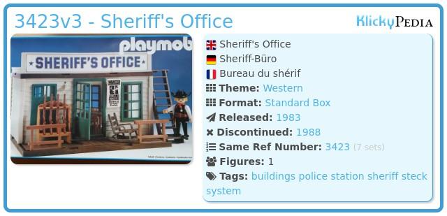Playmobil 3423v3 - Sheriff's Office