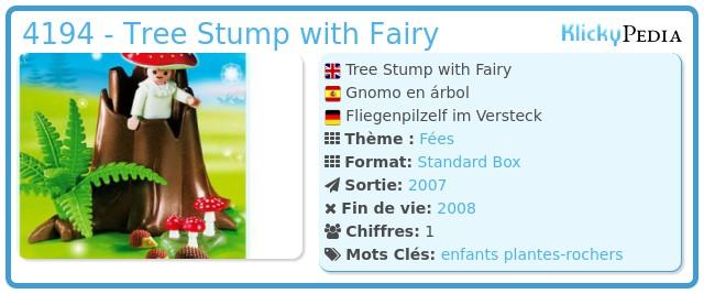 Playmobil 4194 - Tree Stump with Fairy
