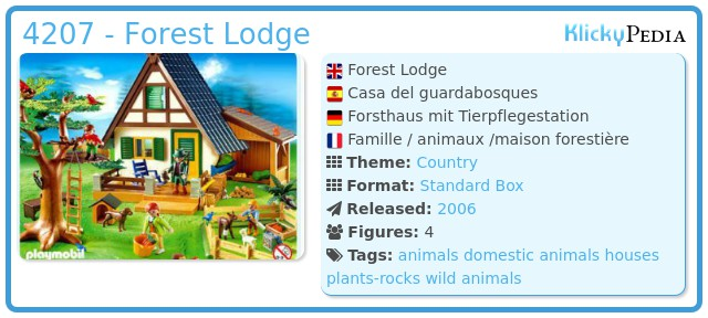 Playmobil 4207 - Forest Lodge