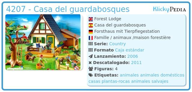 Playmobil 4207 - Casa del guardabosques