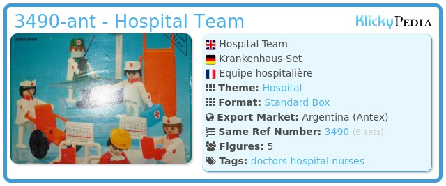 Playmobil 3490-ant - Hospital Team