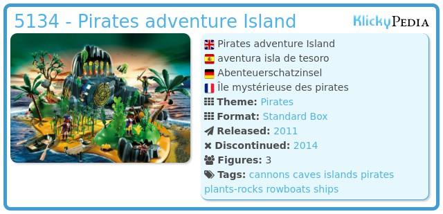 Playmobil 5134 - Pirates adventure Island