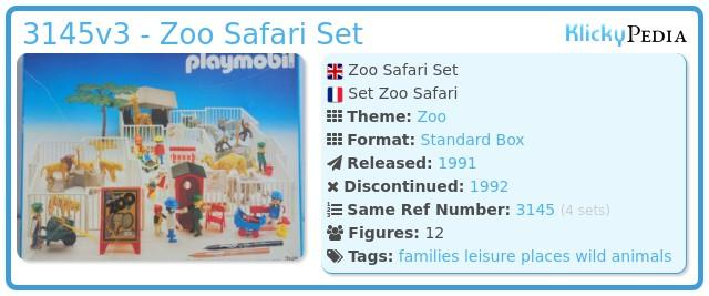 Playmobil 3145v3 - Zoo Safari Set